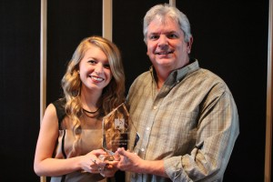 Courtney and Dave with Award